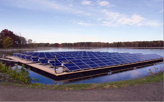 Canoe Brook Floating Solar Panels